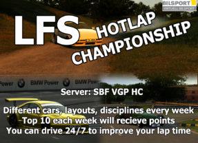 LFS Hotlap Championship 2019 has started!